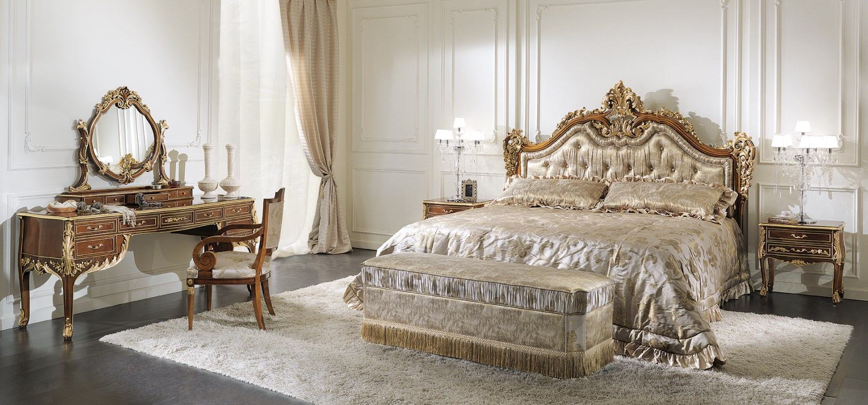 2857 bed, 2860 night stand, 2861 bench, 2857c bedcover, 2858 toeletta, 2859 dresser, 113 small armchair (1700 x 794)